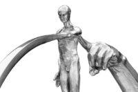 What Goes Around Comes Around, Aluminium - Sculptures - Lorenzo Quinn