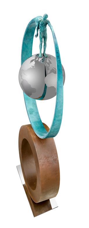 What Goes Around Comes Around, Bronze - Sculptures - Lorenzo Quinn