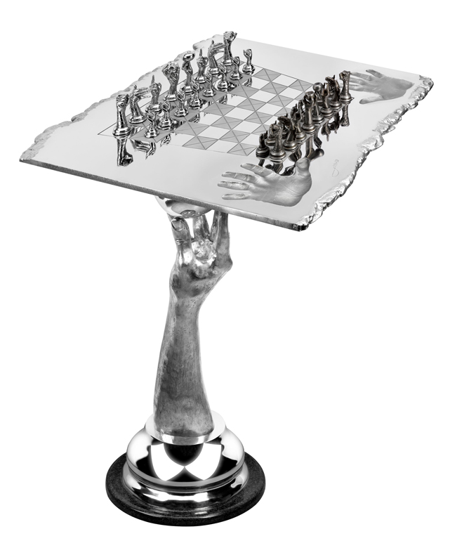 Chess Set - Queen Table, Aluminium - Sculptures - Lorenzo Quinn