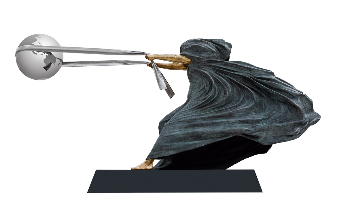 The Force of Nature II, Bronze - Sculptures - Lorenzo Quinn