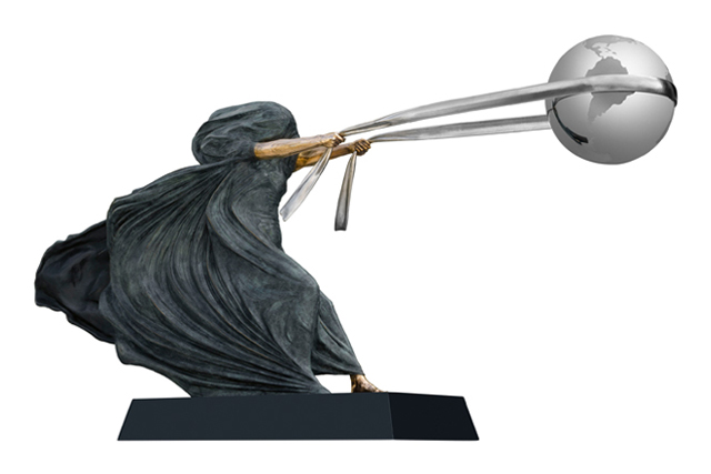 La Fuerza de la Naturaleza II, Bronce - Esculturas - Lorenzo Quinn