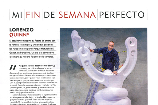 Fuera de Serie - Mi fin de semana perfecto - Lorenzo Quinn - Press - August 2016