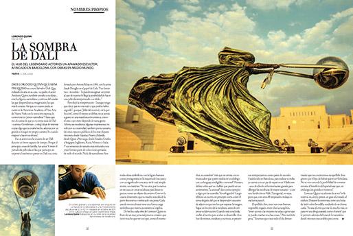 Gentleman - La sombra de Dalí - Lorenzo Quinn - Prensa - Junio 2016