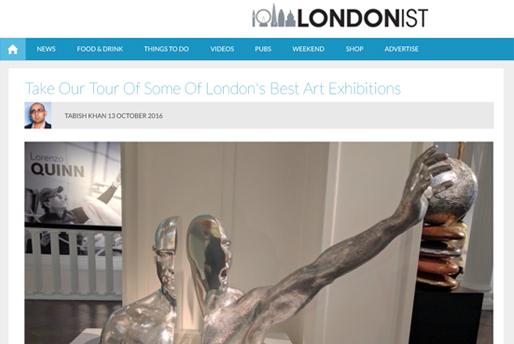 Londonist.com - Lorenzo Quinn - Prensa - Octubre 2016