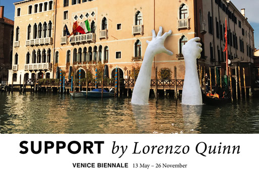 Bienal de Venecia - Lorenzo Quinn - Prensa - Mayo 2017
