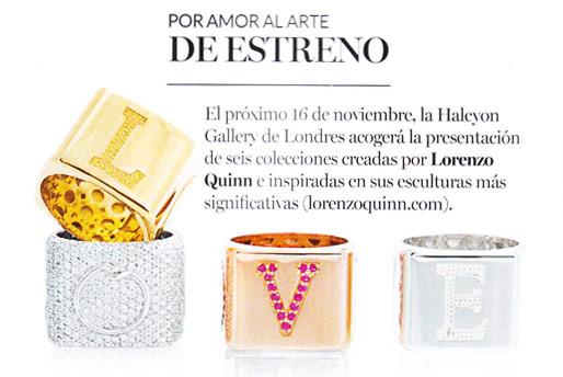 Vogue - Lorenzo Quinn - Prensa - Diciembre 2016