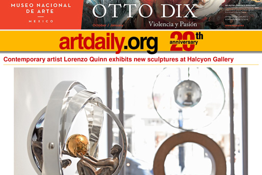 Artdaily.com - Lorenzo Quinn - Press - September 2016