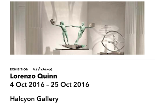 www.artrabbit.com - Lorenzo Quinn - Press - October 2016