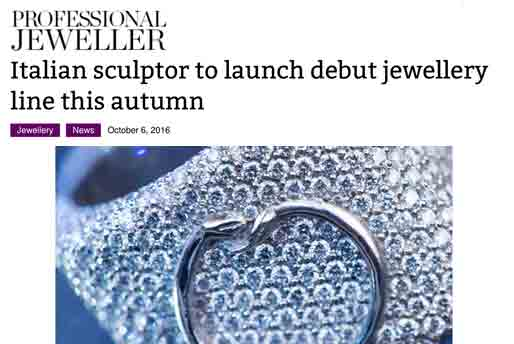 www.professionaljeweller.com - Lorenzo Quinn - Press - October 2016