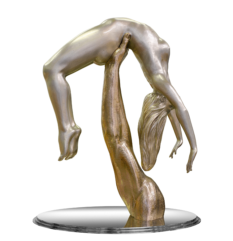 I Will Catch You If You Fall, White Bronze - Sculptures - Lorenzo Quinn