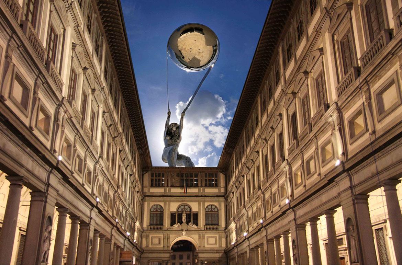 New Uffizi, Prints - Lorenzo Quinn