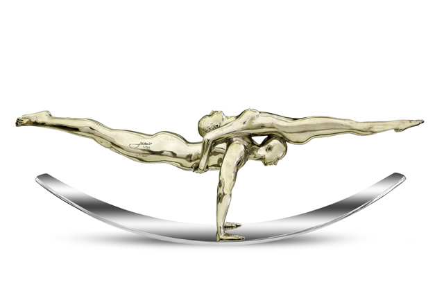 Balance of Love, White Bronze - Sculptures - Lorenzo Quinn