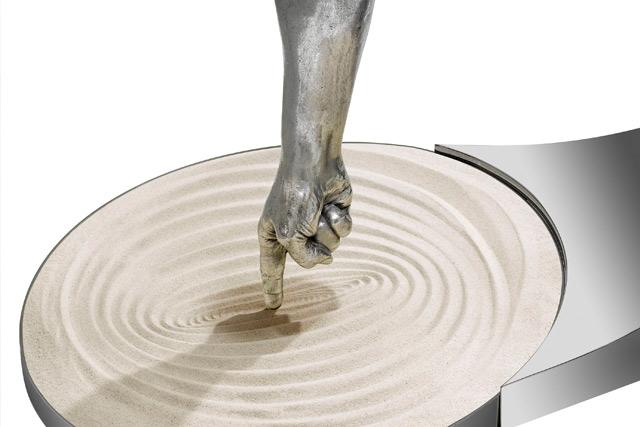 Dibuja tu Tiempo, Aluminio - Esculturas - Lorenzo Quinn