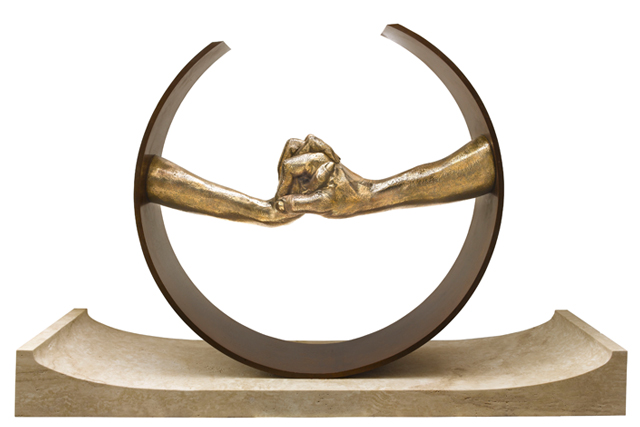 Durante el Amor, Bronce - Esculturas - Lorenzo Quinn
