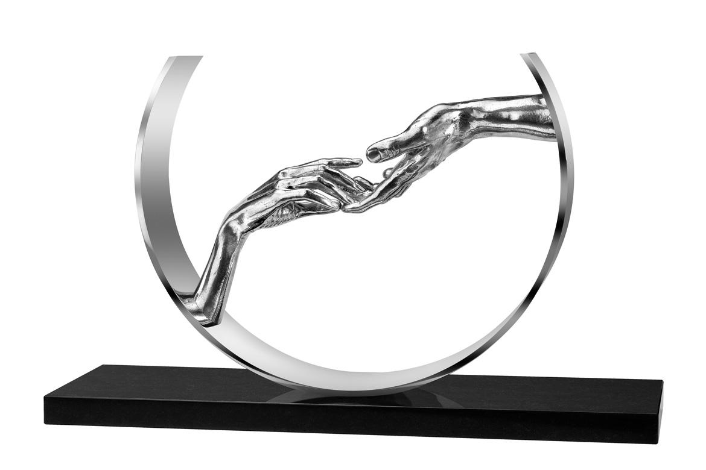 Encontrando el Amor, Aluminio y Base de Mármol - Esculturas - Lorenzo Quinn