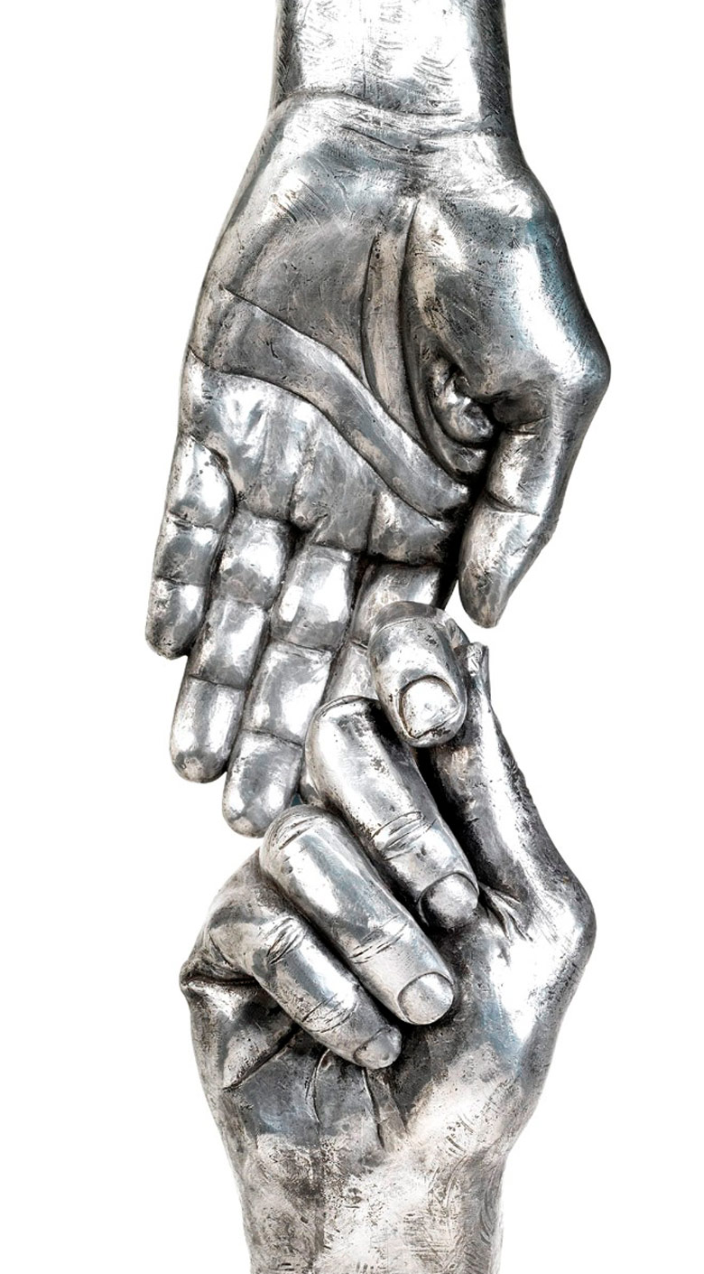 Give and Take III, Aluminium - Sculptures - Lorenzo Quinn
