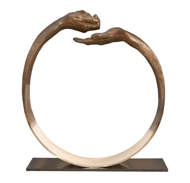 Give and Take III, Bronze - Sculptures - Lorenzo Quinn