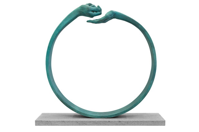 Give and Take III (Female-Male), Patinated Bronze - Sculptures - Lorenzo Quinn
