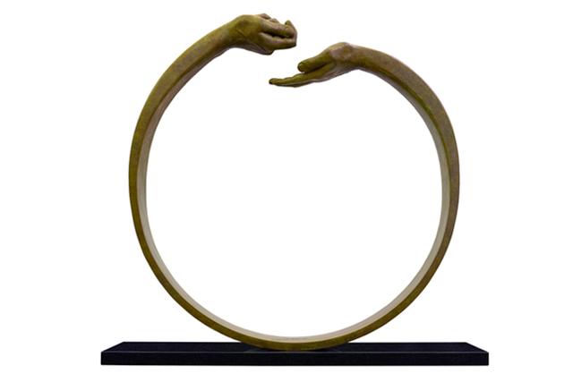Dar y Tomar III, Pátina Verde - Esculturas - Lorenzo Quinn