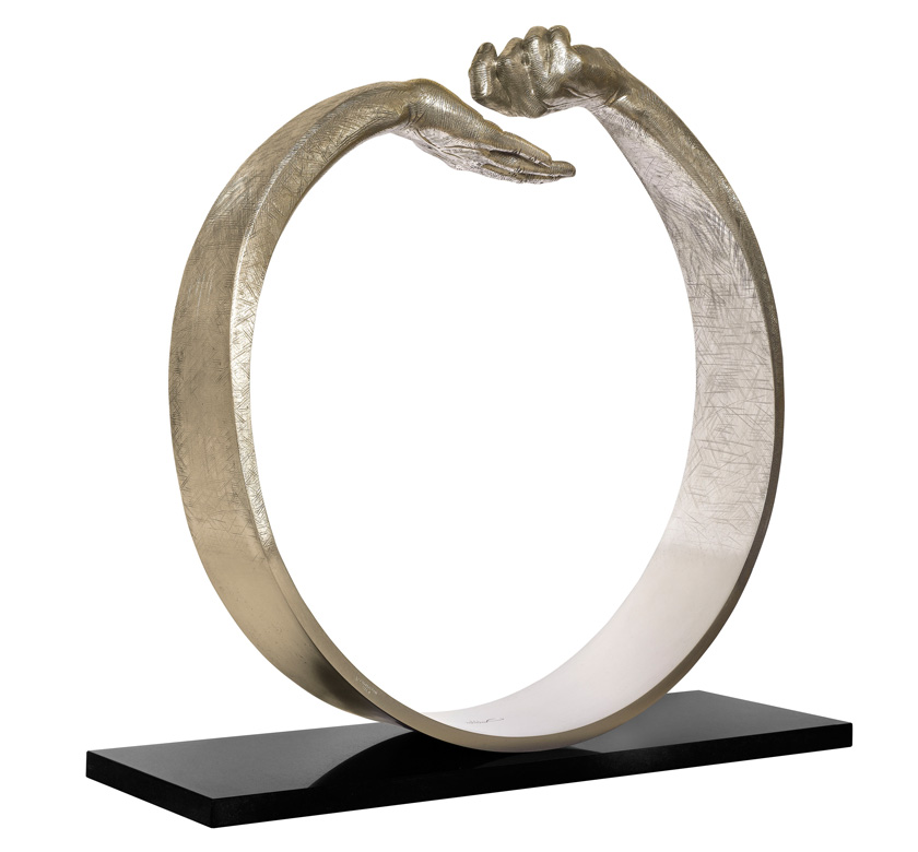 Give and Take III, White Bronze - Sculptures - Lorenzo Quinn