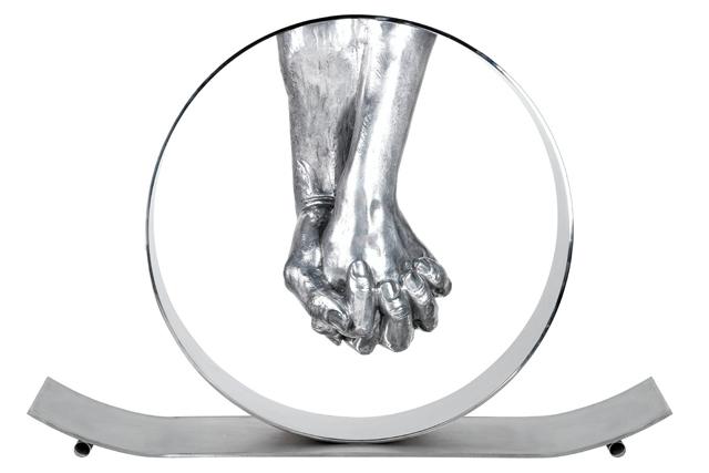 Love, Aluminium - Sculptures - Lorenzo Quinn