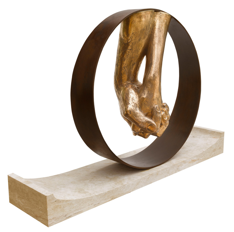 Amor, Bronce, Base Travertino - Esculturas - Lorenzo Quinn
