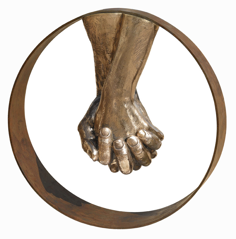 Love, Bronze, without Base - Sculptures - Lorenzo Quinn