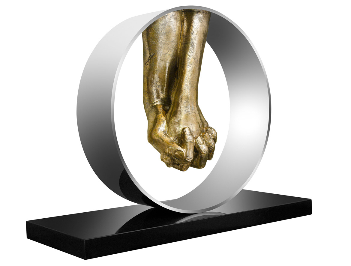 Love, Polished Bronze - Sculptures - Lorenzo Quinn