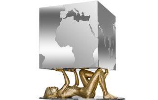 Pressure Female - Sculptures - Lorenzo Quinn