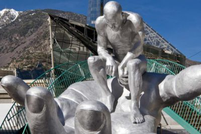 Hand of God, aluminium - Andorra - Installations and Commissions - Lorenzo Quinn