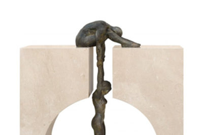 Gravity, Bronze and Marble - Esculturas - Lorenzo Quinn