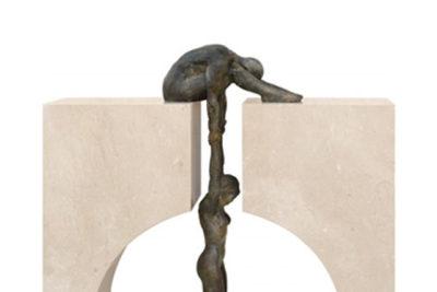 Gravedad, Bronce y Mármol - Esculturas - Lorenzo Quinn