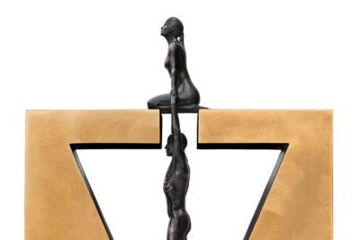 Gravedad Femenina, Bronce - Esculturas - Lorenzo Quinn
