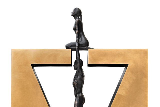 Gravity Female, Bronze - Sculptures - Lorenzo Quinn