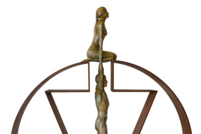 Gravity Female, Bronze and Brass - Sculptures - Lorenzo Quinn