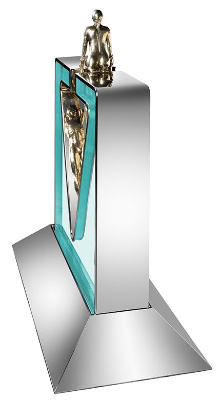 Gravity Female, Framed White Bronze - Sculptures - Lorenzo Quinn
