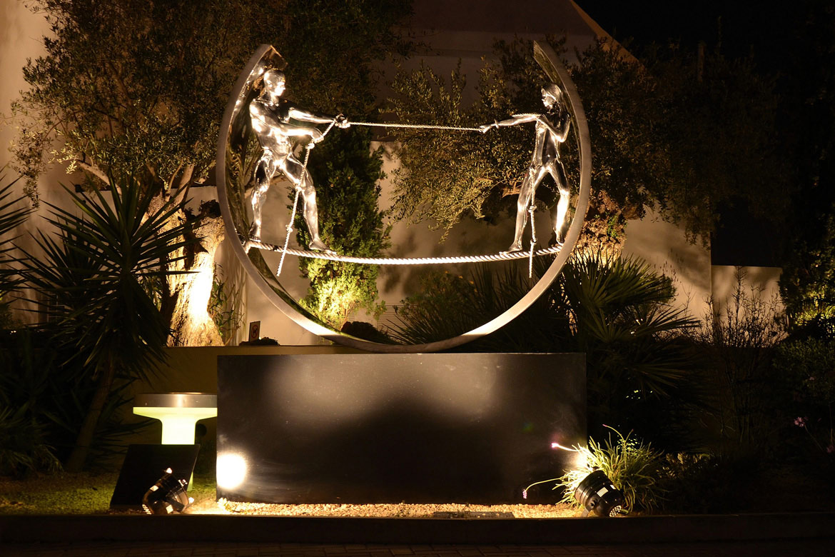 Tight Rope II - Ibiza, Spain - Installations and Commissions - Lorenzo Quinn