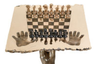 Chess Set - Queen Table, Bronze - Sculptures - Lorenzo Quinn