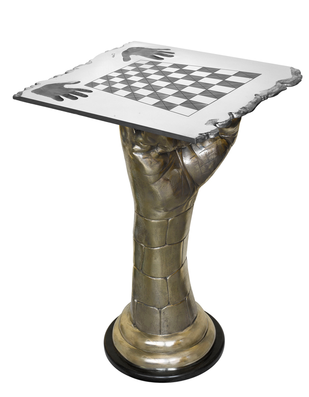 Chess Set - Rook Table, Bronze - Sculptures - Lorenzo Quinn