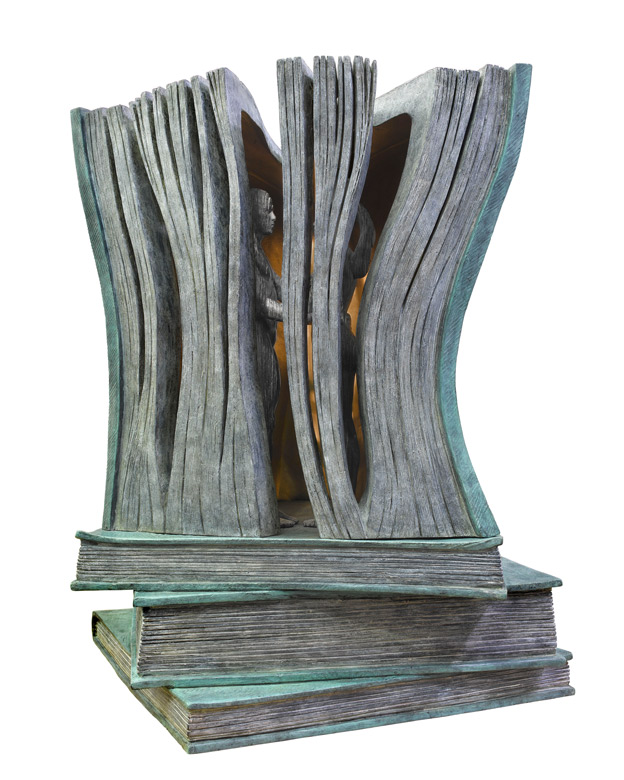 The Perfect Story Book, Bronze - Sculptures - Lorenzo Quinn