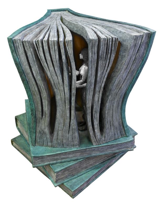 La Historia Perfecta, Libro, Bronce - Esculturas - Lorenzo Quinn