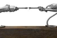 Tension, Aluminium - Sculptures - Lorenzo Quinn
