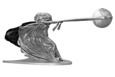 La Fuerza de la Naturaleza II, Aluminio - Esculturas - Lorenzo Quinn
