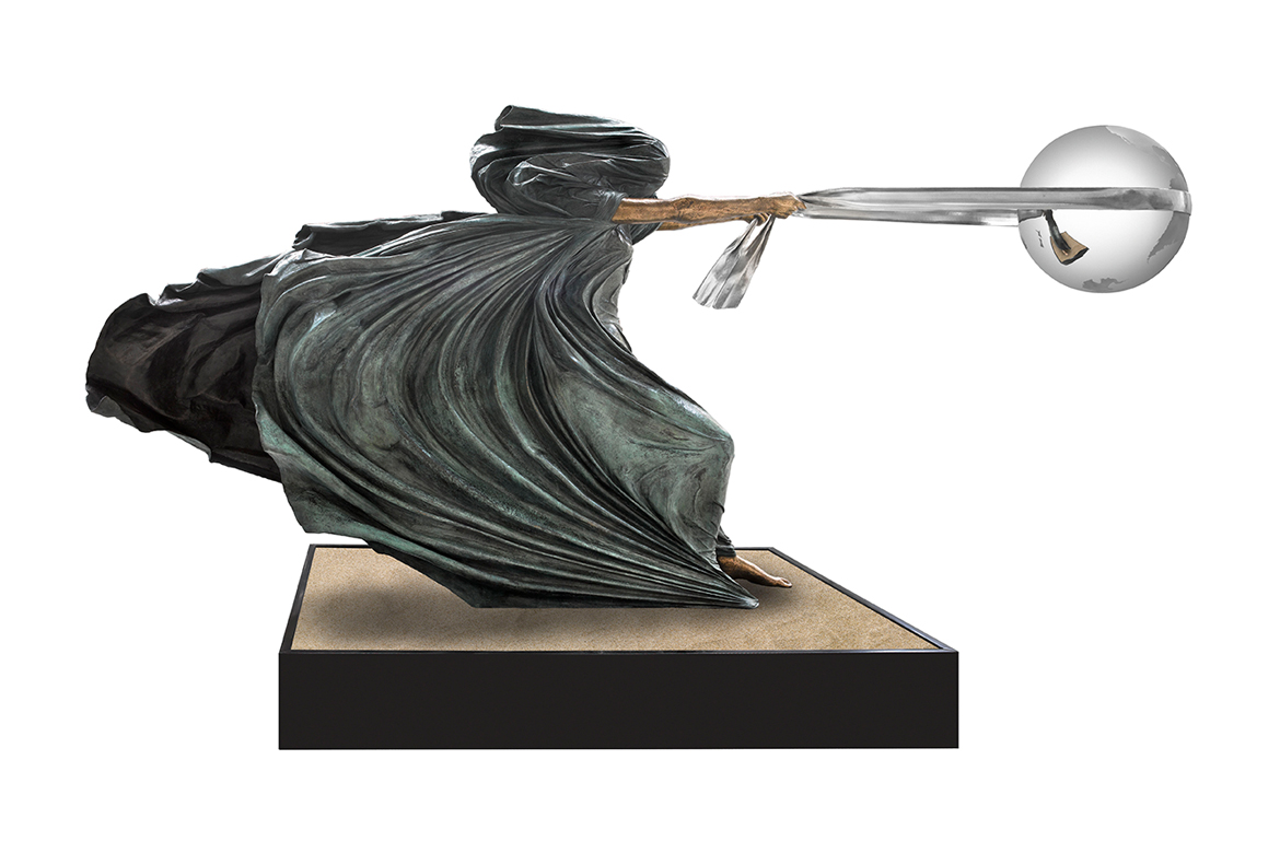The Force of Nature II, Bronze, 180cm - Sculptures - Lorenzo Quinn
