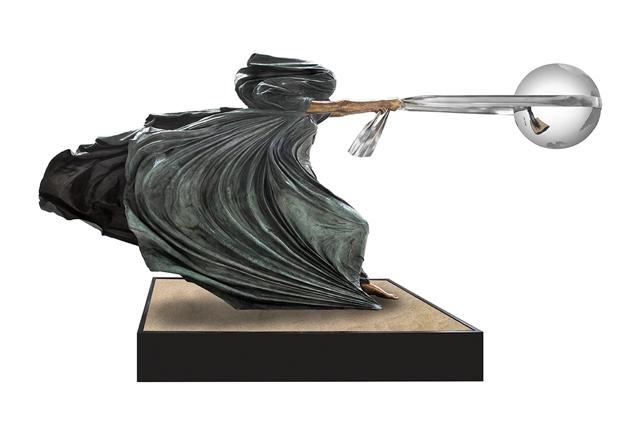 La Fuerza de la Naturaleza II, Bronce, 180cm - Esculturas - Lorenzo Quinn