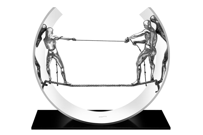 Tight - Rope - II, Aluminium - Sculptures - Lorenzo Quinn