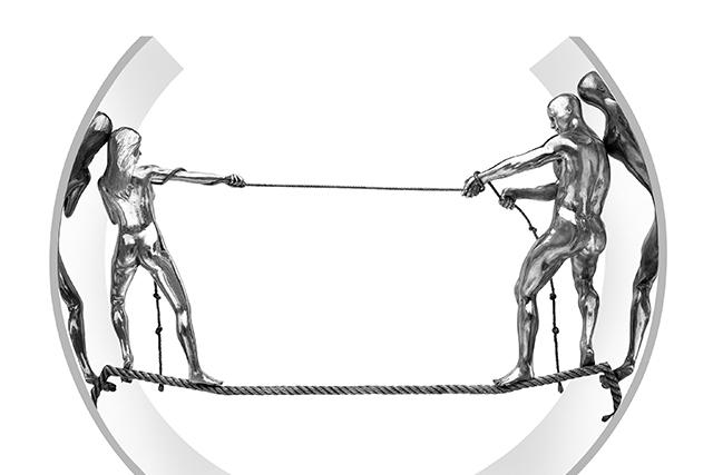 Cuerda Floja II, Aluminio - Esculturas - Lorenzo Quinn