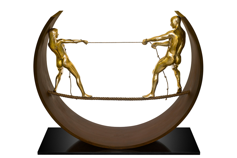 Cuerda Floja II, Bronce - Esculturas - Lorenzo Quinn