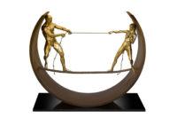 Tight - Rope - II, Bronze - Sculptures - Lorenzo Quinn