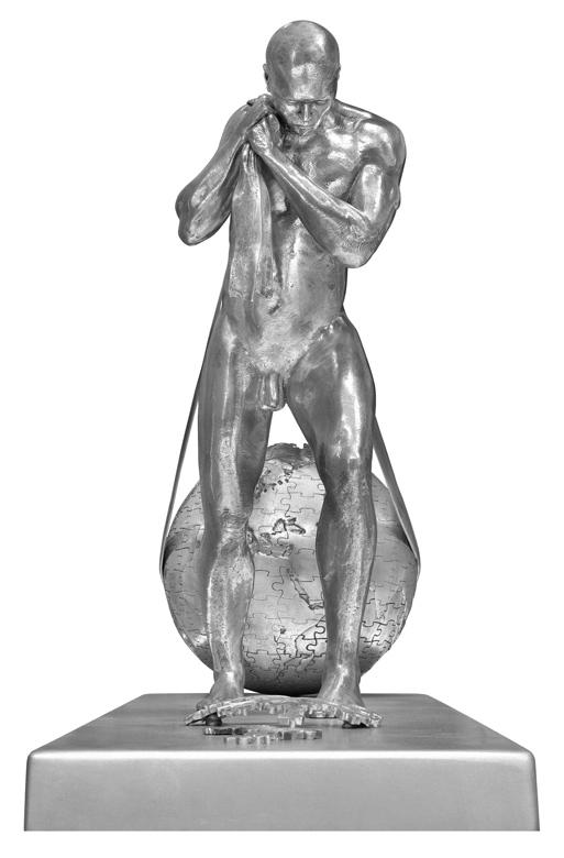 Will Power, Aluminio - Esculturas - Lorenzo Quinn
